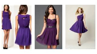 Top 100 Most beautiful purple cocktail dress for women