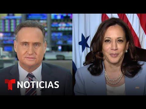 """Harris defiende a los migrantes tras pedirles que """"no vengan""""   Noticias Telemundo"""