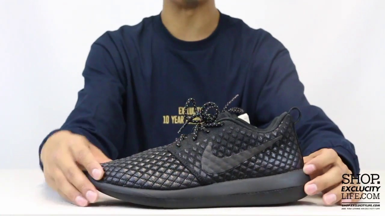 29ce0815bab Nike Roshe Run 2 Flyknit 365 Triple Black Unboxing Video at Exclucity