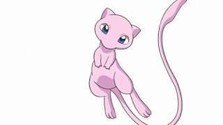Các bươc vẽ tranh và tô màu Pokemon Mew |