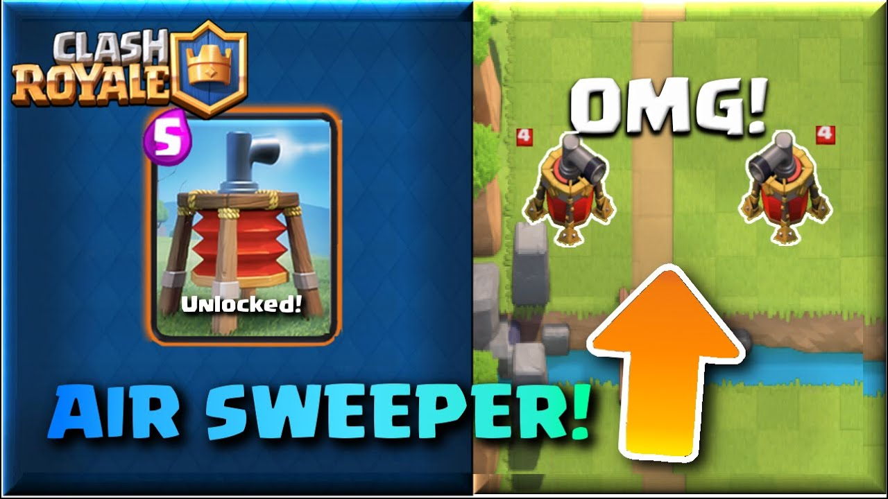 ... Clash Royale- NEW Update 'AIR SWEEPER' CARD! CLASH ROYALE IDEA! #1