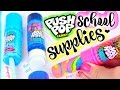 DIY PUSH POP SCHOOL SUPPLIES: Eraser, Pencil Sharpener, & Glue Stick - Back-To-School | SoCraftastic