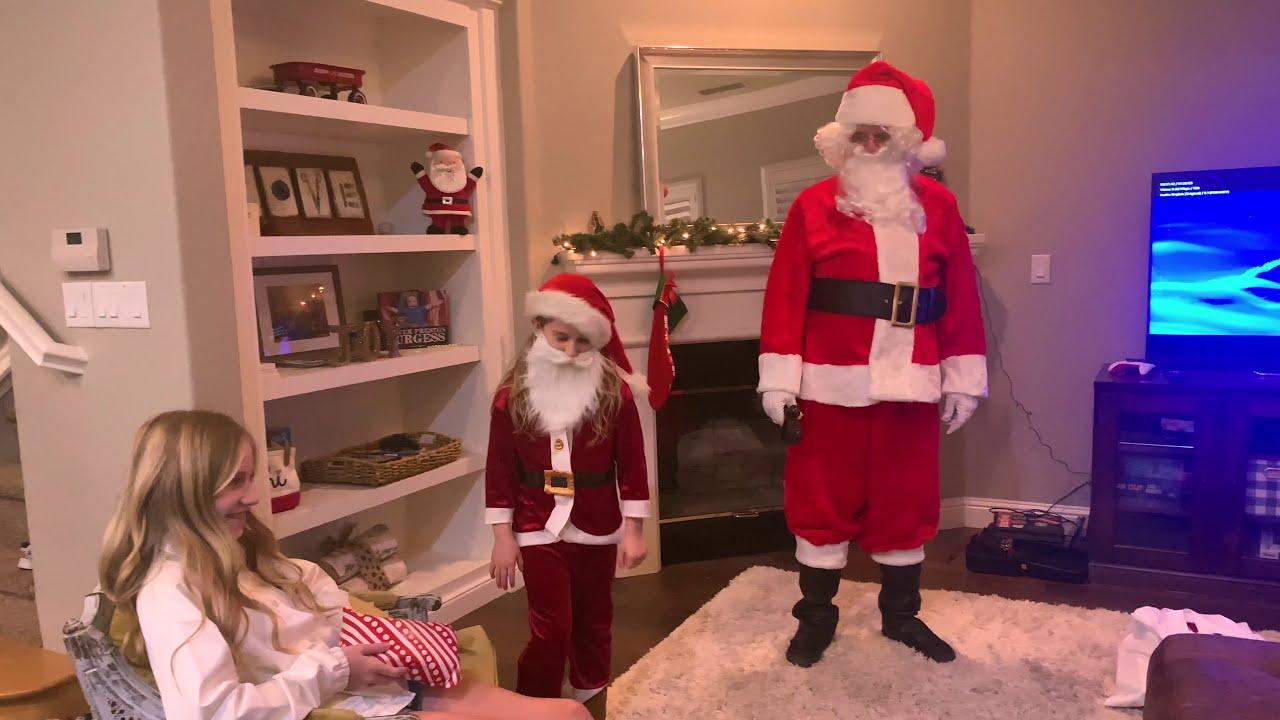 Santa and Tiny Santa Visit us At Home 2020