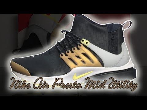 Nike Air Presto Mid Utility Black / Yellow Streak | Unboxing, Close Up Look & On Feet Review