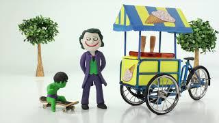 Baby Hulk Buys Ice Creams w Joker Play Doh Cartoons ❤️Stop Motion Animations