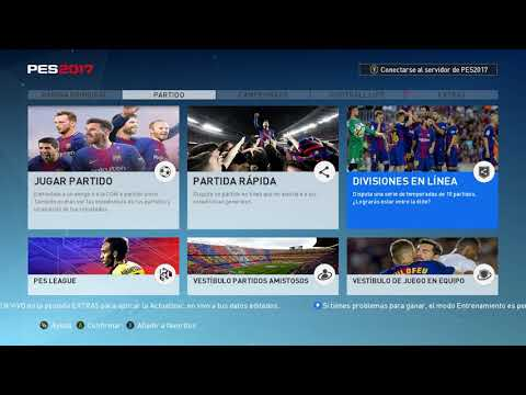 PES 2017 New Menu Barcelona 2017 by ninet