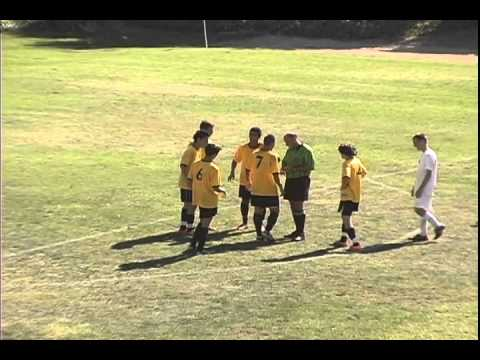 Ref loses control of soccer match!
