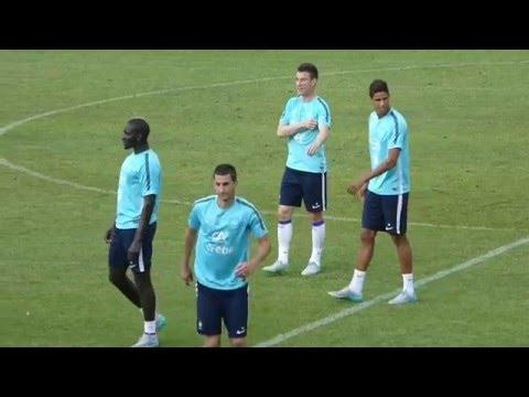 Mamadou Sakho ● Maxime Gonalons ●  Raphaël Varane ● Laurent Koscielny ● Tirana (Albanie)