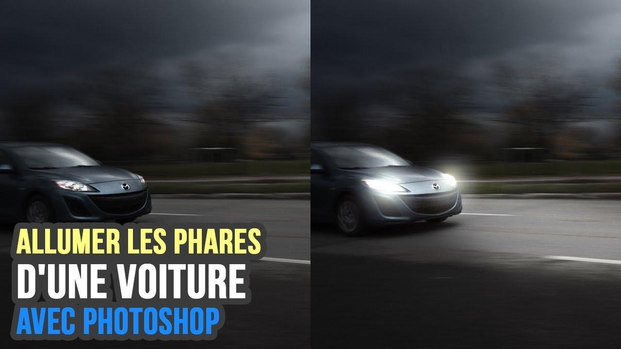 comment allumer les phares d 39 une voiture photoshop tutorials youtube. Black Bedroom Furniture Sets. Home Design Ideas