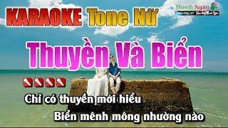 Thuyền Và Biển Karaoke    Tone Nữ - Nhạc Sống Thanh Ngân