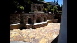 Rocklin Custom Outdoor Fireplace And Flag Stone Patio Pre-final By Gpt Construction