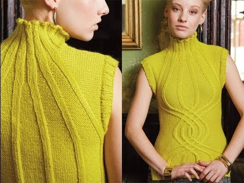 #13 Helix Cabled Vest, Vogue Knitting Winter 2012/13