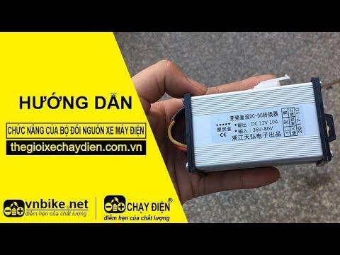 Hướng dẫn chức năng bộ đổi nguồn xe máy điện 12V