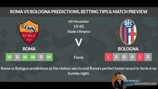 AS Roma vs Bologna PREDICTION (by 007soccerpicks.com)