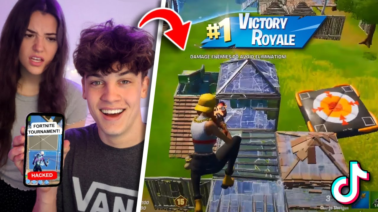 I HACKED my Girlfriends TIKTOK Account and HOSTED a Fortnite Tournament...