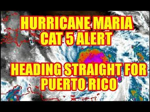 HURRICANE MARIA TURNS CAT 5 HEADED STRAIGHT FOR PUERTO RICO
