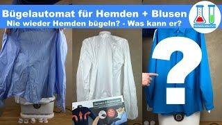 Für ca. 60 € nie mehr bügeln? Automatischer Hemden und Blusen Bügler Cleanmaxx im Test. deutsch