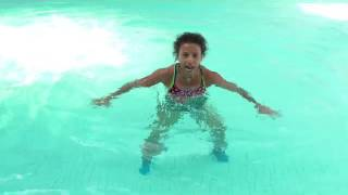 vuclip Aqua Aqua Aerobics water workout move shallow criss cross jack get down with Marietta Mehanni