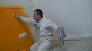 Востановление дефектов на стене в покраске