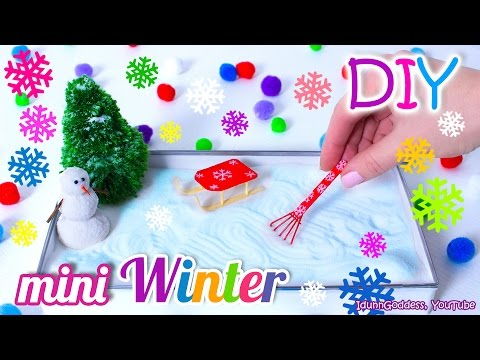 How To Make A Miniature Winter Zen Garden – DIY Stress-Relieving Desk Decoration