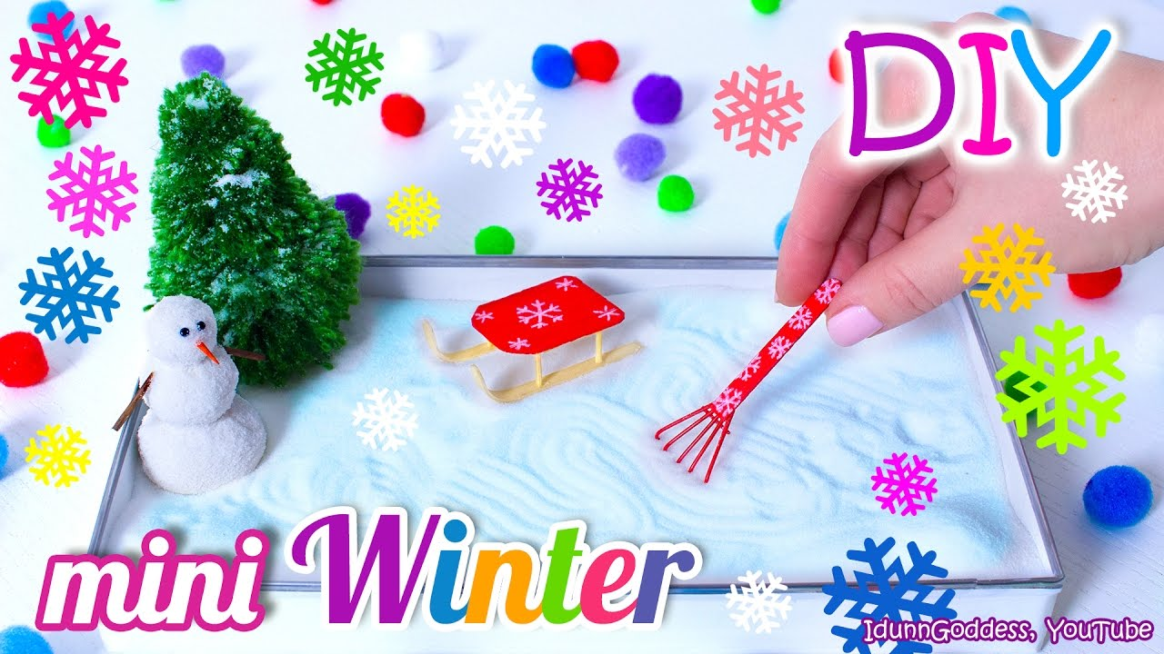 How To Make A Miniature Winter Zen Garden U2013 DIY Stress Relieving Desk  Decoration   YouTube