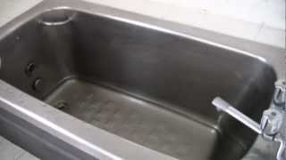 2012.10.17 宇高国道フェリー最終日 「こんぴら丸」船内浴室 Utaka Ferry Bath Room