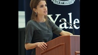 Queen Rania at Yale University
