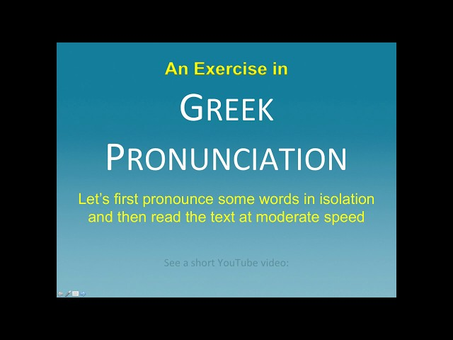 GREEK PRONUNCIATION 6 (The Nicene Creed)