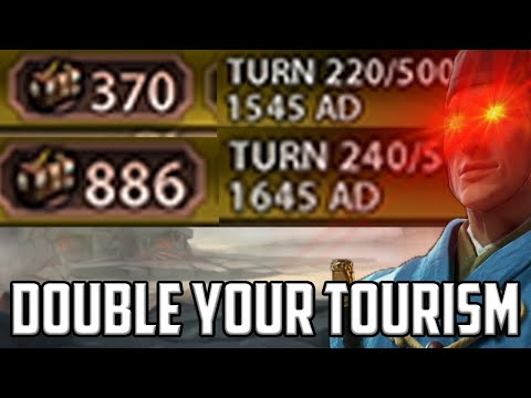 Learn how to Double Your Tourism in 20 turns with one simple trick - Civ 6 Japan #7