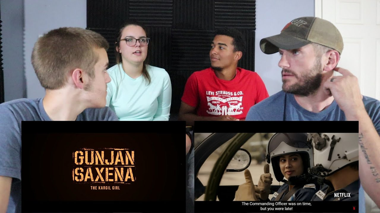 Gunjan Saxena The Kargil Girl Official Trailer Reaction Netflix India Youtube