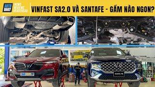 So sánh Vinfast Lux SA 2.0 và Hyundai Santafe 2021 máy dầu: Gầm xe nào NGON HƠN?