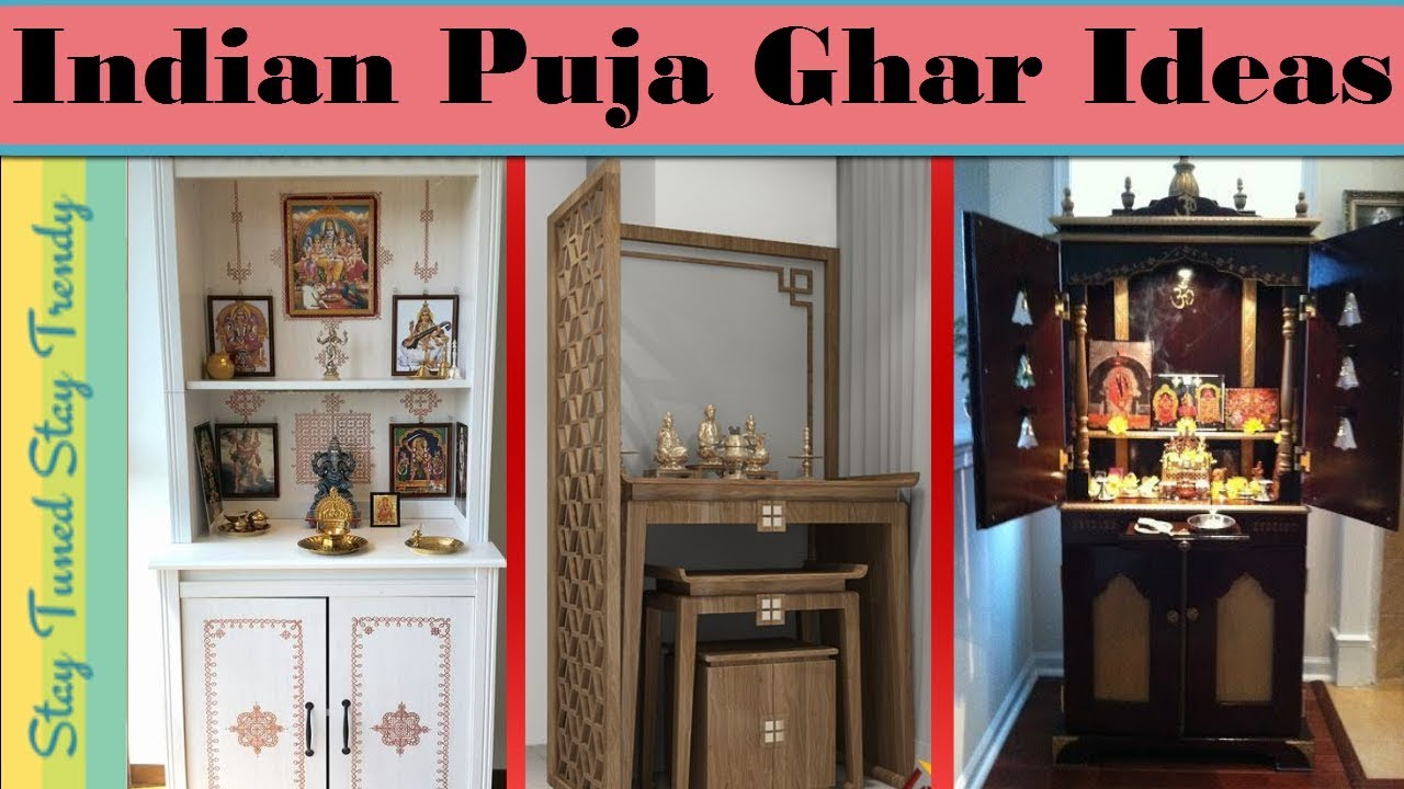 Pooja Ghar Cabinet Latest Indian Puja Room Interior Ideas Small House म द र ड ज इन In Living Room Youtube