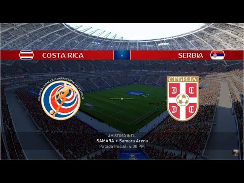 Simulación Costa Rica vs Serbia Mundial Russia 2018