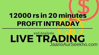 12000 profit in 10 minutes - Live Intraday Trading and Analysis