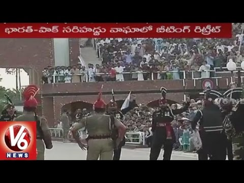 Beating Retreat Ceremony At Wagah Border || 70th Independence Day Celebrations | V6 News