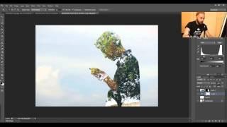 Как создать эффект двойной экспозиции в фотошопе. Урок фотошопа. Видеоуроки Pro Photoshop(Видеоурок среднего уровня сложности по созданию эффекта двойной экспозиции в фотошопе. Как правильно подо..., 2015-03-28T15:00:31.000Z)