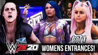 WWE 2K20 | ALL WOMENS ENTRANCES!!