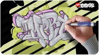 Graffiti Tutorial - MERT Funky Style Schritt für Schritt