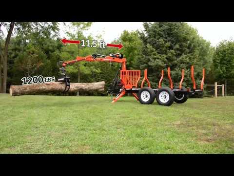 Wallenstein Timber Talon Log Grapple Trailer
