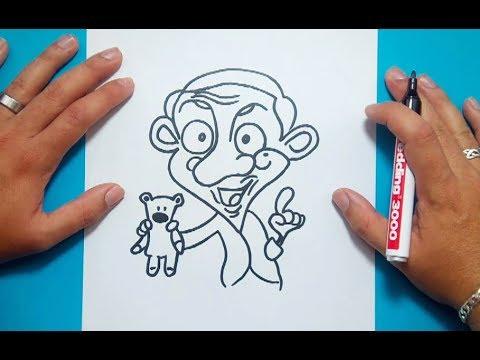 Como Dibujar A Mr Bean Paso A Paso Mr Bean How To Draw Mr Bean Mr Bean