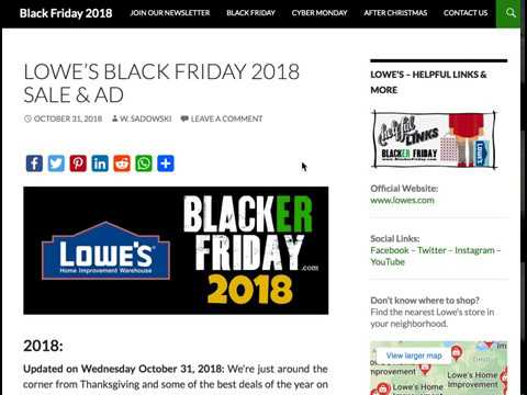 lowe 39 s black friday 2018 ad appliance sale now live youtube. Black Bedroom Furniture Sets. Home Design Ideas