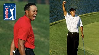 Tiger Woods' craziest putts of his career