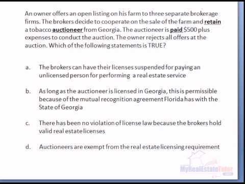 Fl Real Estate Exam Question Law Youtube