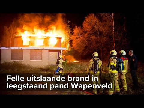 Felle uitslaande brand in Ennerveld aan de Molenweg bij Wapenveld - ©StefanVerkerk.nl