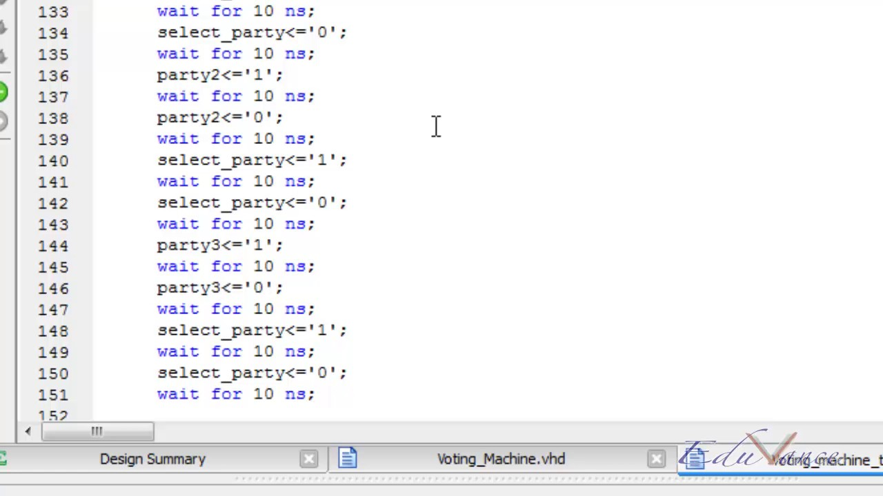 VHDL Lecture 22 Lab 7 - Voting Machine Simulation