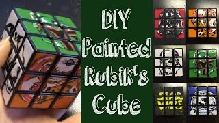 Diy Custom Painted Star Wars Rubik's Cube