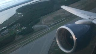 Land of the Midnight Sun!!!  Incredible HD 757 Takeoff From Anchorage Alaska!!!