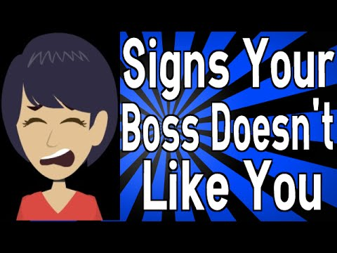 Signs Your Boss Doesn T Like You Youtube