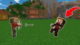 RÜZGAR ARDAYI OK İLE VURUYOR! 😱 - Minecraft