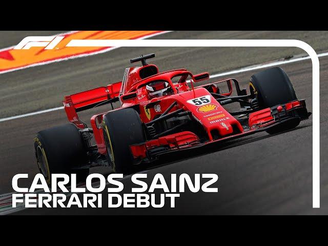 Carlos Sainz Makes His Ferrari Track Debut